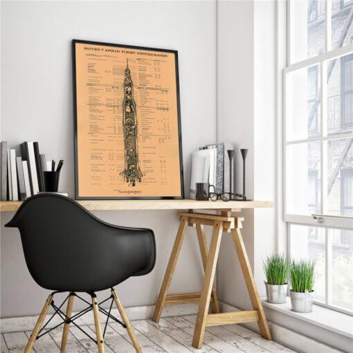 Saturn 5 Rocket Poster – Apollo Lunar Program