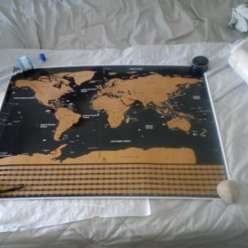Scratch Off World Map Poster photo review