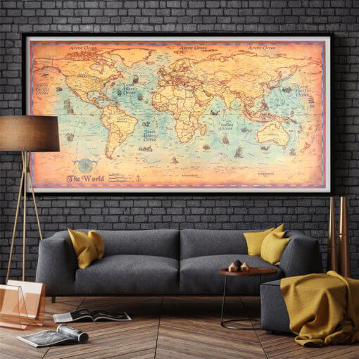 Vintage-World-Map-Canvas-Print-or-Paper-Prints-Oil-Painting-Retro-Poster-Worl (8)