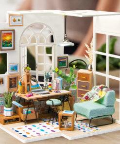 miniature house doll house kit home office soho time